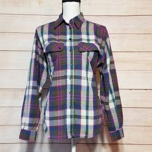 VTG DVF plaid button up (16-054)